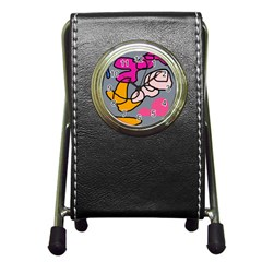 Colorful abstract design by Moma Pen Holder Desk Clocks
