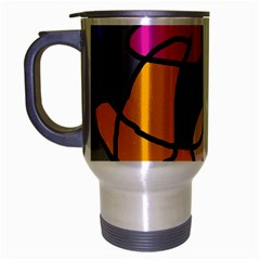 Colorful abstract design by Moma Travel Mug (Silver Gray)