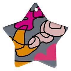 Colorful abstract design by Moma Star Ornament (Two Sides)