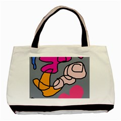 Colorful abstract design by Moma Basic Tote Bag (Two Sides)