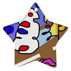 Abstract comic Ornament (Star)