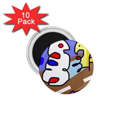 Abstract comic 1.75  Magnets (10 pack)