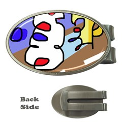 Abstract comic Money Clips (Oval)