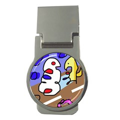 Abstract comic Money Clips (Round)