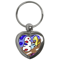 Abstract comic Key Chains (Heart)