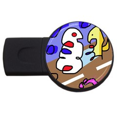 Abstract comic USB Flash Drive Round (1 GB)