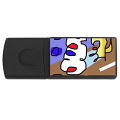 Abstract comic USB Flash Drive Rectangular (4 GB)