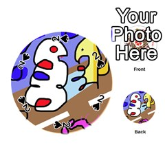 Abstract comic Playing Cards 54 (Round)
