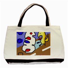 Abstract comic Basic Tote Bag (Two Sides)