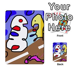 Abstract comic Multi-purpose Cards (Rectangle)