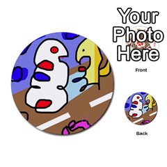 Abstract comic Multi-purpose Cards (Round)