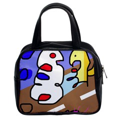 Abstract comic Classic Handbags (2 Sides)