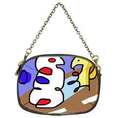 Abstract comic Chain Purses (Two Sides)