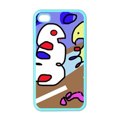 Abstract comic Apple iPhone 4 Case (Color)