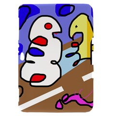 Abstract comic Samsung Galaxy Tab 8.9  P7300 Hardshell Case