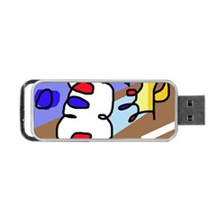 Abstract comic Portable USB Flash (Two Sides)