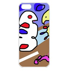 Abstract comic Apple iPhone 5 Seamless Case (White)