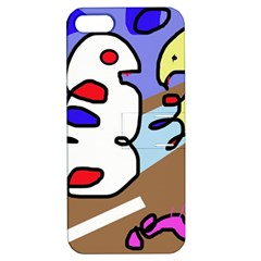 Abstract comic Apple iPhone 5 Hardshell Case with Stand