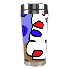 Abstract comic Stainless Steel Travel Tumblers