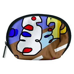 Abstract comic Accessory Pouches (Medium)