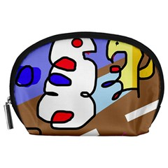 Abstract comic Accessory Pouches (Large)