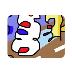 Abstract comic Double Sided Flano Blanket (Mini)