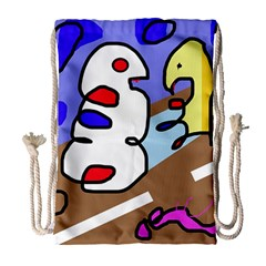 Abstract comic Drawstring Bag (Large)