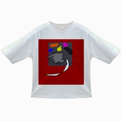 Red abstraction by Moma Infant/Toddler T-Shirts