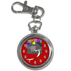 Red abstraction by Moma Key Chain Watches