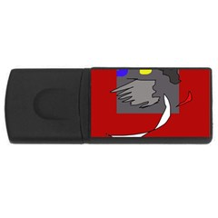 Red abstraction by Moma USB Flash Drive Rectangular (2 GB)