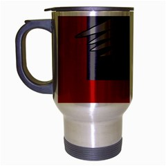 Red abstraction by Moma Travel Mug (Silver Gray)