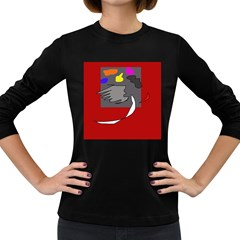 Red abstraction by Moma Women s Long Sleeve Dark T-Shirts