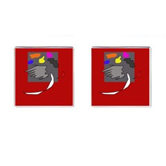 Red abstraction by Moma Cufflinks (Square)