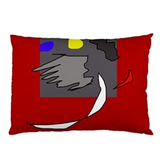 Red abstraction by Moma Pillow Case