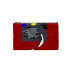 Red abstraction by Moma Cosmetic Bag (Small)