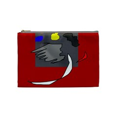 Red abstraction by Moma Cosmetic Bag (Medium)