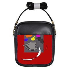 Red abstraction by Moma Girls Sling Bags