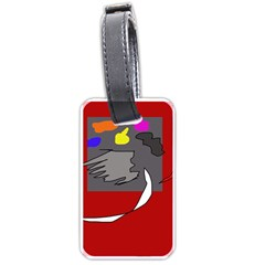 Red abstraction by Moma Luggage Tags (Two Sides)
