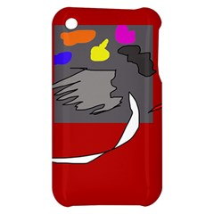 Red abstraction by Moma Apple iPhone 3G/3GS Hardshell Case