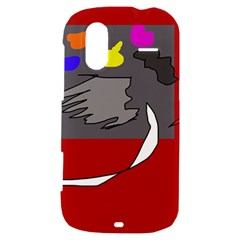 Red abstraction by Moma HTC Amaze 4G Hardshell Case