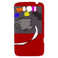 Red abstraction by Moma HTC Sensation XL Hardshell Case