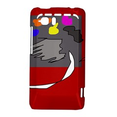 Red abstraction by Moma HTC Vivid / Raider 4G Hardshell Case