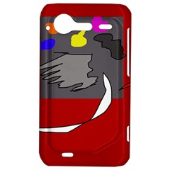 Red abstraction by Moma HTC Incredible S Hardshell Case