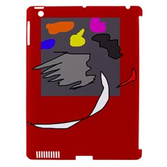 Red abstraction by Moma Apple iPad 3/4 Hardshell Case (Compatible with Smart Cover)