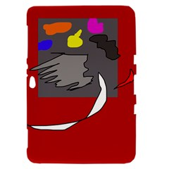 Red abstraction by Moma Samsung Galaxy Tab 8.9  P7300 Hardshell Case