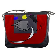 Red abstraction by Moma Messenger Bags