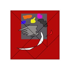 Red abstraction by Moma Acrylic Tangram Puzzle (4  x 4 )