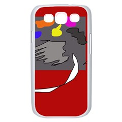 Red abstraction by Moma Samsung Galaxy S III Case (White)