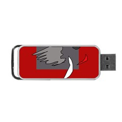 Red abstraction by Moma Portable USB Flash (Two Sides)
