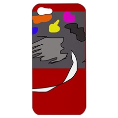 Red abstraction by Moma Apple iPhone 5 Hardshell Case